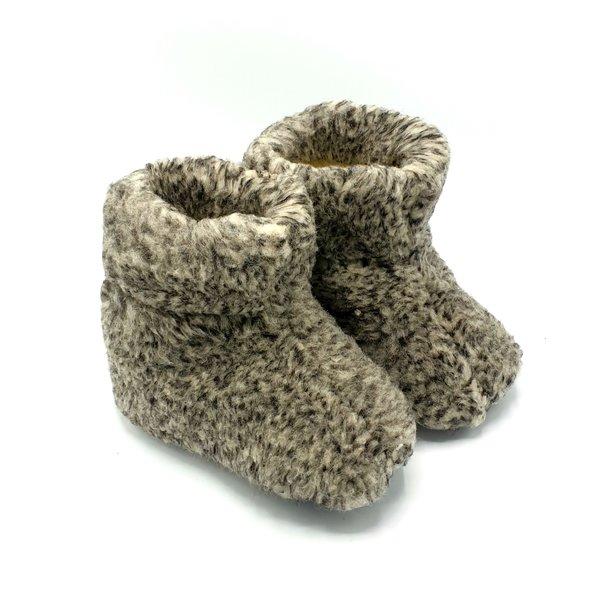 DINA Hausschuhe 100% Wolle grau Unisex