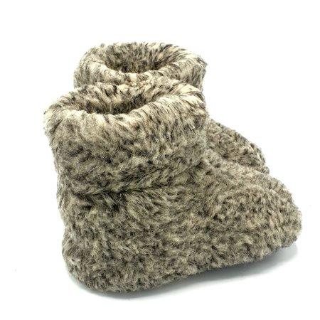 DINA sloffen 100% wol grijs