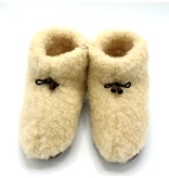 DINA Wool indoor slippers with laces white