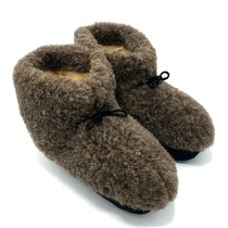 Wool indoor slippers with laces black
