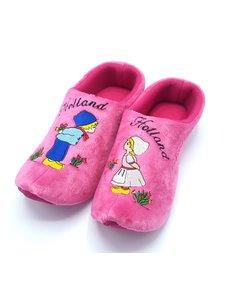 Clog Pantoffeln rosa küssendes Paar