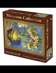 Puzzel 1000 stukjes bloemen in vaas van Gogh
