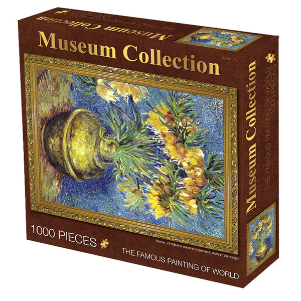 Puzzle 1000pcs van Gogh flowers in pot