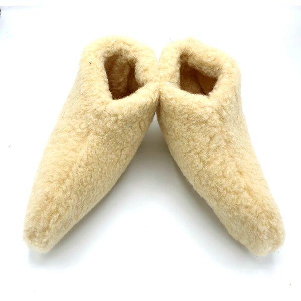 DINA Wollpantoffeln weiß ohne Sohle (Socke)
