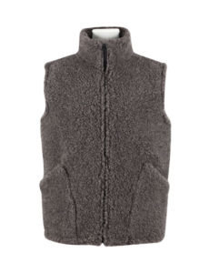 Bodywarmer 100% wool dark grey