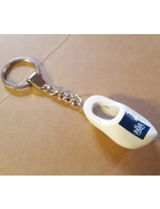 Clog Schlüsselringe Weiß mit Logo