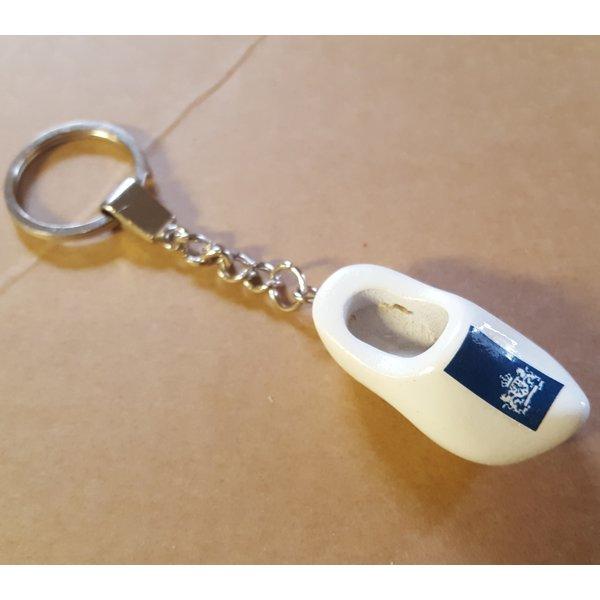 Clogs Schlüsselringe Weiß mit Logo