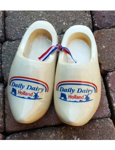 Pair of woodenshoes 10cm with personal print