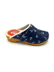 DINA Swedish clogs blue with white anchors