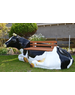 Lifelike cow bench