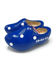 Maternity clogs blue