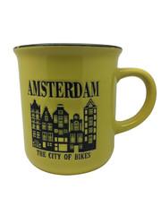 Becher gelbe Amsterdamer Häuser