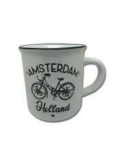 Mug white Amsterdam bicycle