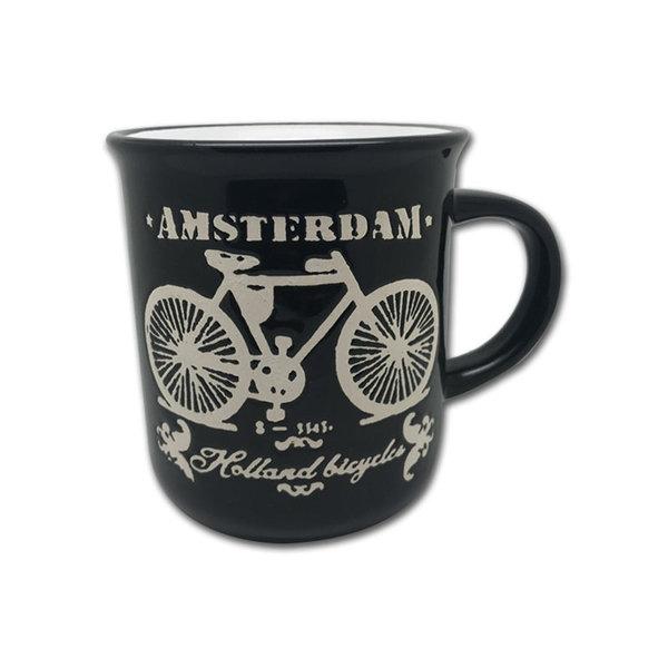Becher schwarzes Fahrrad Amsterdam