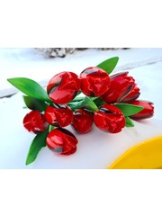 Red wooden tulips bouquet r/b (10,20 or 30pcs)