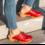 DINA Zweedse klompen - effen rood - schoenklompen van Dina