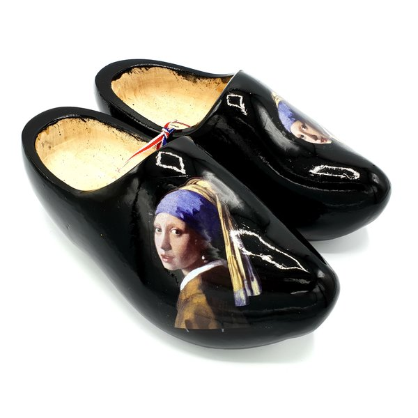 Wooden shoes Art Girl with the pearl earring - J. Vermeer