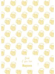 Toweltje Theedoek met bierpullen geel