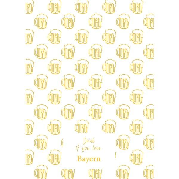 Toweltje Geschirrtuch mit Bierkrügen gelb