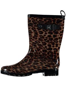 All season boots leopard