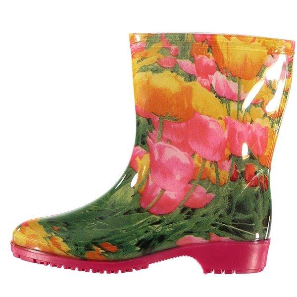 All season boots tulips