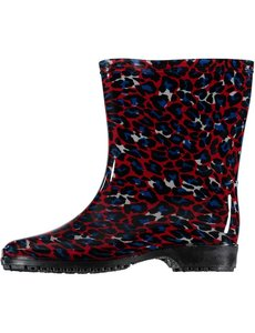 All season boots leopard red