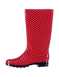 All season boots red dots