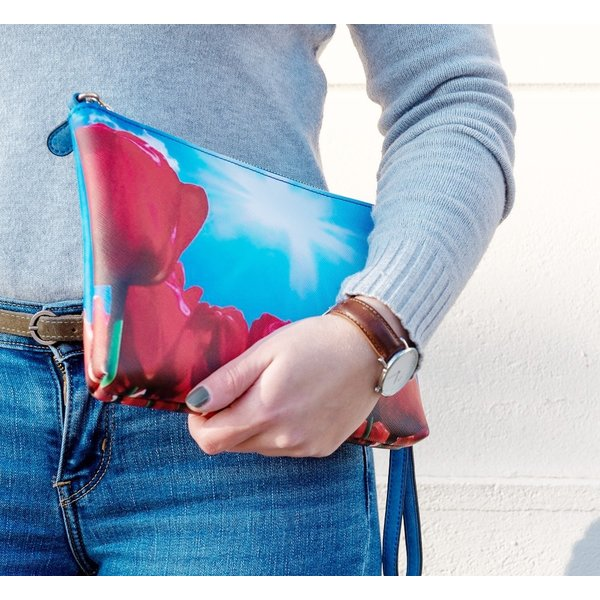 Celdes Shoulderbag/purse red tulips enjoying the sun
