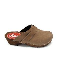 DINA Dina clogs bruin met nubuck leer