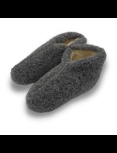DINA Wool indoor slippers low model grey - Copy