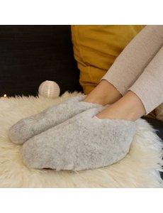 DINA Wool indoor slippers low model grey