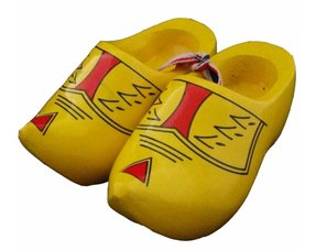 Farmer yellow woodenshoes