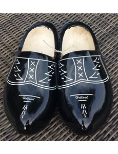 Traditional black woodenshoes