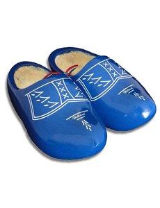 Clogs blau mit Besatz
