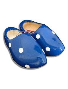 Tupfen Clogs blau