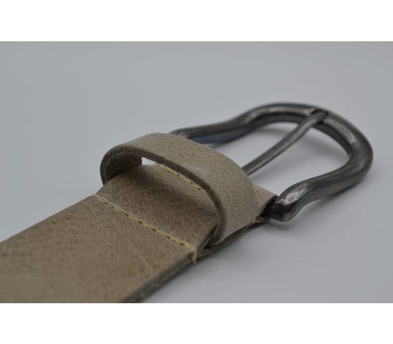 40mm brede riem van italiaans leder met nikkelvrije gunmetal gesp