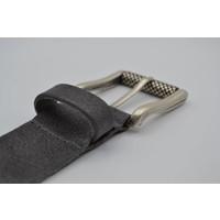 40mm brede riem van italiaans leder met nikkelvrije oud-zilveren rolgesp