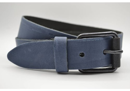 Scotts Bluf split lederen blauwe casual dames/heren riem
