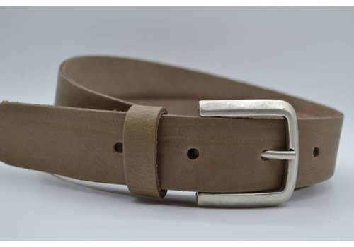 Scotts Bluf split lederen taupe dames/heren riem