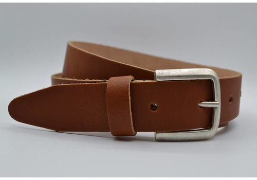 Scotts Bluf split lederen cognac dames/heren riem