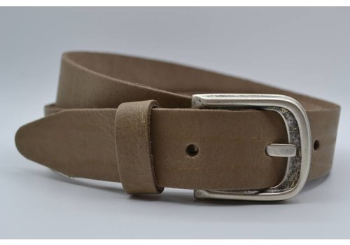 Scotts Bluf split lederen taupe kinder riem