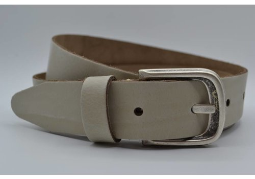 Scotts Bluf split lederen 35 mm ecru casual riem