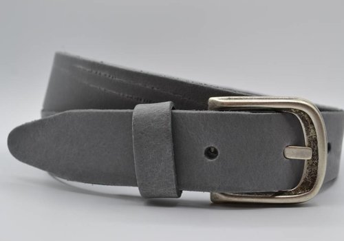 Scotts Bluf split lederen 35 mm grijze casual riem