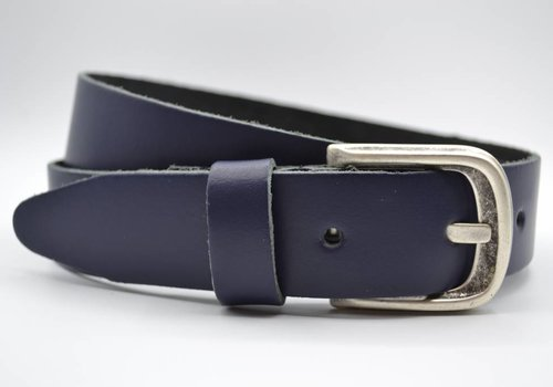 Scotts Bluf split lederen 35 mm donker blauwe casual riem