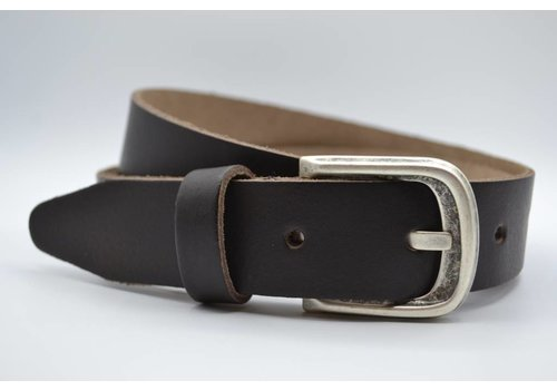 Scotts Bluf split lederen 35 mm bruine casual riem