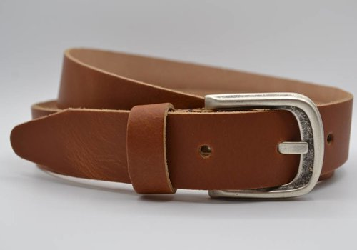 Scotts Bluf split lederen 35 mm cognac casual riem