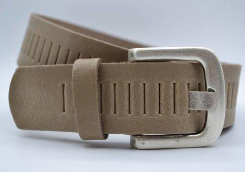 Scotts Bluf split lederen 40mm taupe casual perforatie riem