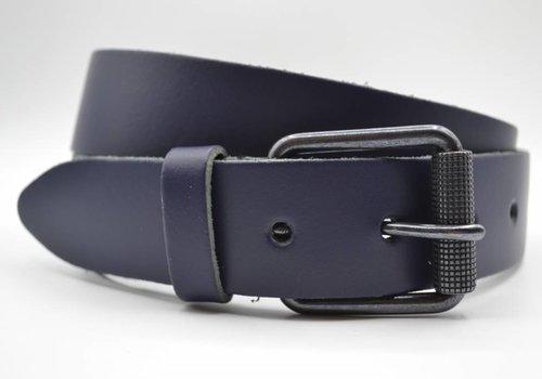 Scotts Bluf split lederen 40mm donker blauw casual riem
