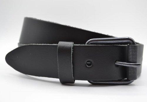 Scotts Bluf split lederen 40mm zwarte casual riem