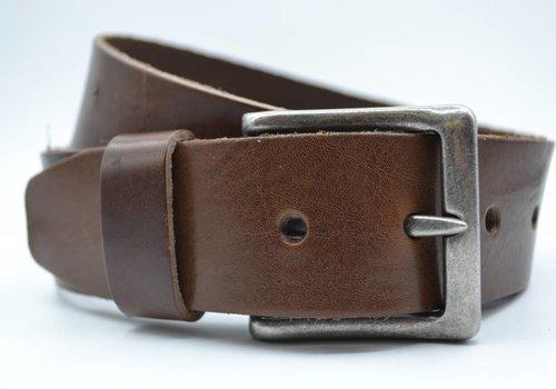 Scotts Bluf mooie strakke bruine volnerf jeansriem
